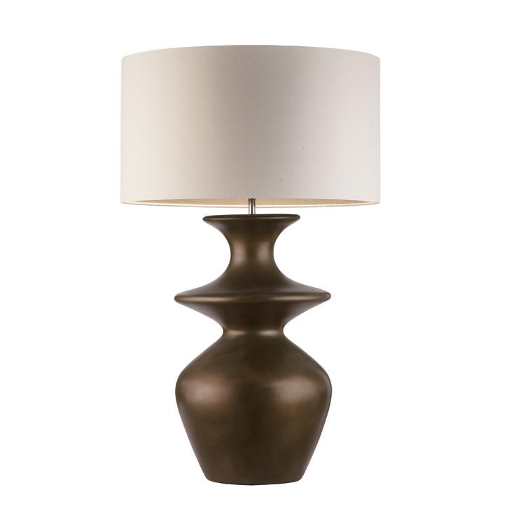 deep chrome ceramic table lamp for house living room lighting